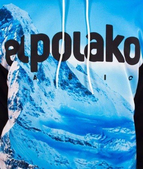 El Polako-Kangurka Szczyt Bluza Kaptur Czarna