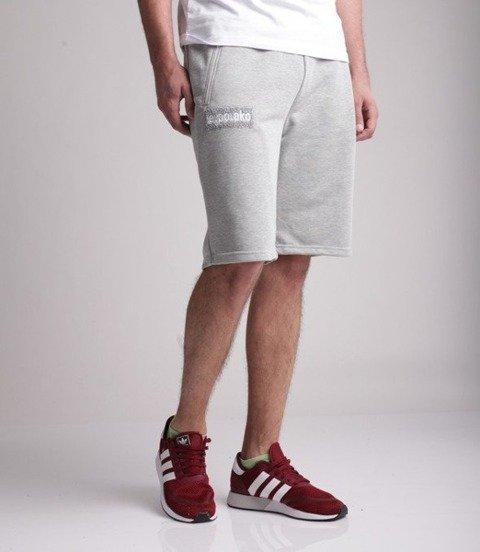 El Polako-LOGOBOX Spodnie Krótkie Dresowe Szare