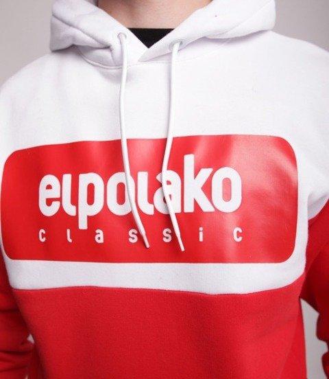 El Polako Plate Bluza z Kapturem Czerwony