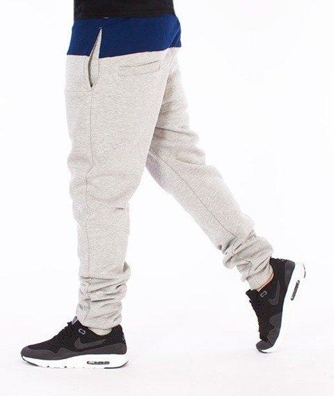 El Polako-Premium Cut Logo Fit Spodnie Dresowe Szare