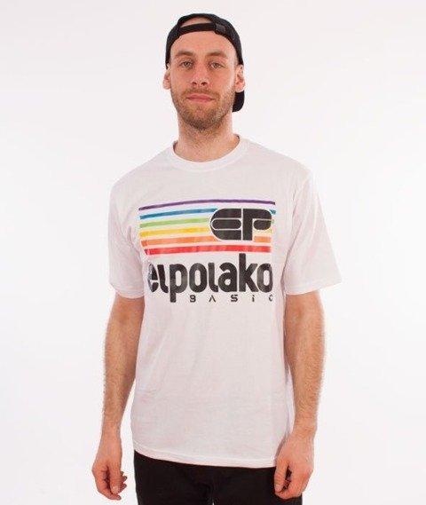 El Polako-Rainbow T-Shirt Biały