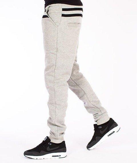 El Polako-Stripes Fit Spodnie Dresowe Szare