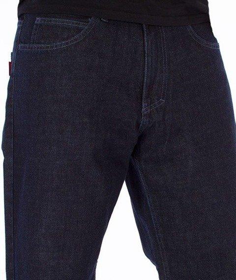 El Polako-Style Regular Jeans Ciemne Spranie