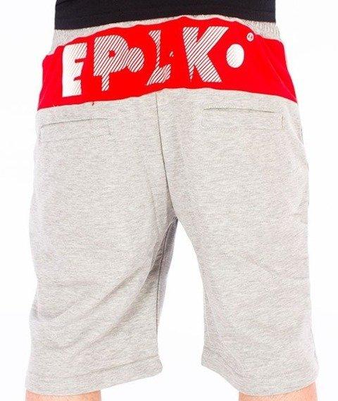 El Polako-Style Spodnie Krótkie Dresowe Szare