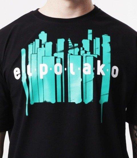El Polako-Town T-Shirt Czarny