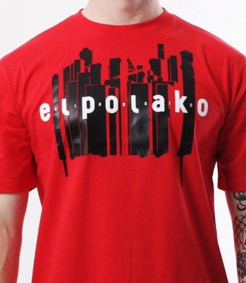 El Polako-Town T-Shirt Czerwony