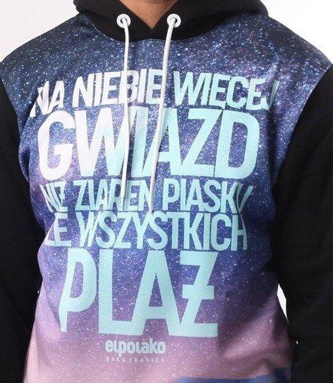 El Polako-Więcej Gwiazd Bluza Kaptur Czarny