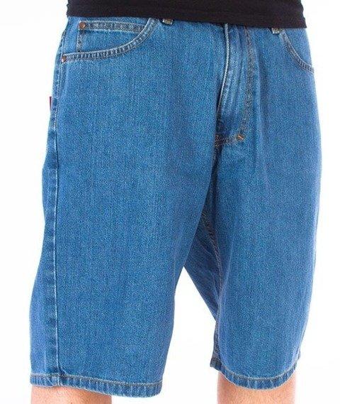 El Polako-Zaciek Spodnie Krótkie Jeans Light Blue
