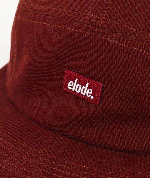 Elade-Patch 5Panel Snapback Bordowy