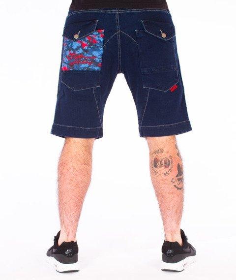Extreme Hobby-Cargo Jeans Spodnie Krótkie Ciemne Niebieskie