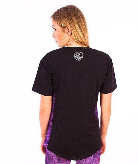 Ganja Mafia-Cannabis Queen T-Shirt Damski Czarny/Biały