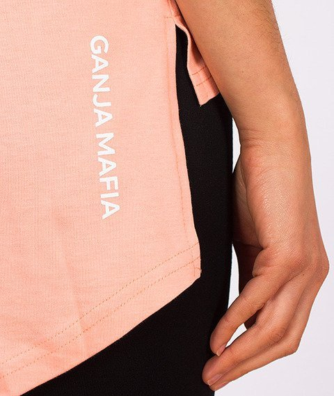 Ganja Mafia-Dope Logo T-Shirt Damski Camo/Peach