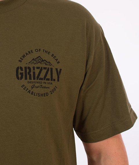 Grizzly-All Terrain T-Shirt Military Green
