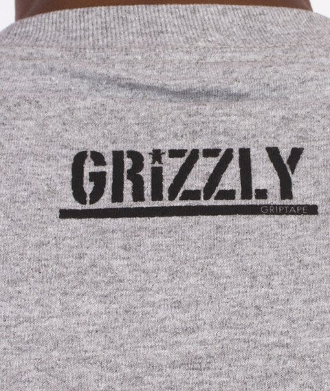 Grizzly-OG Stamp Logo T-Shirt Grey