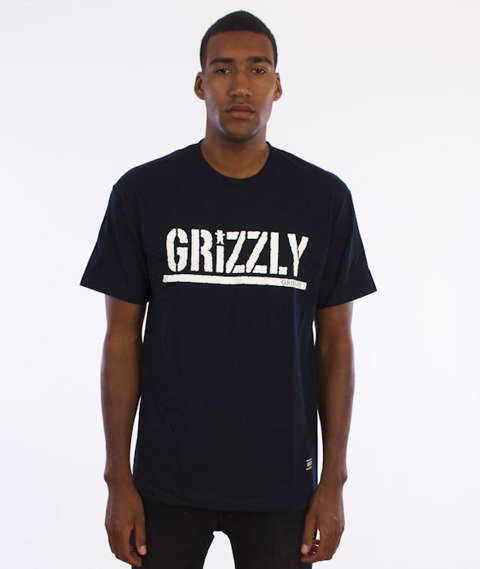 Grizzly-OG Stamp Logo T-Shirt Navy
