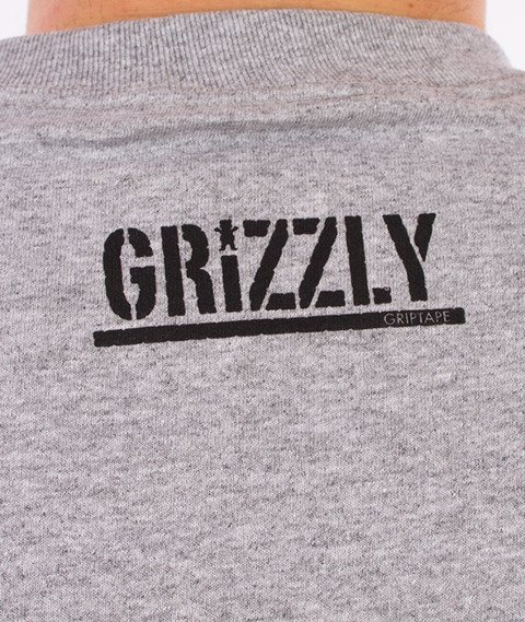 Grizzly-Trail Map OG Bear T-Shirt Heather Grey
