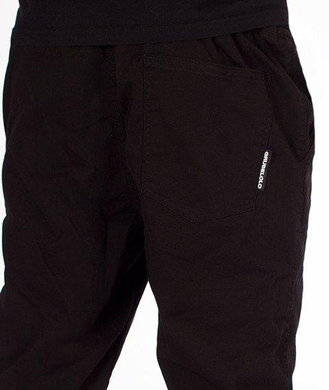 Grube Lolo-Spodnie Materiałowe Czarne
