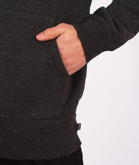 HUF-Original Logo Hoody Charcoal Heather