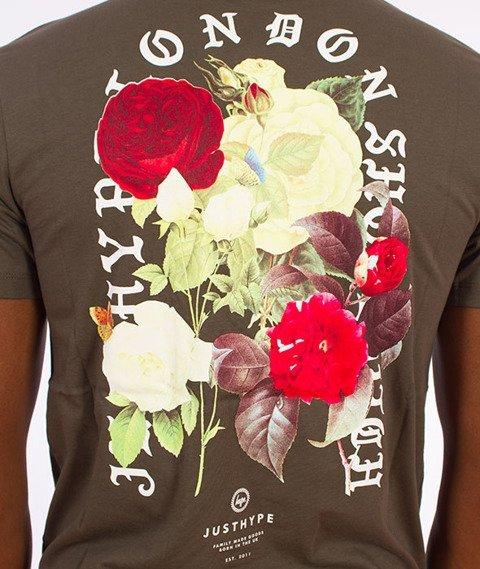 Hype-Bouquet T-Shirt Khaki