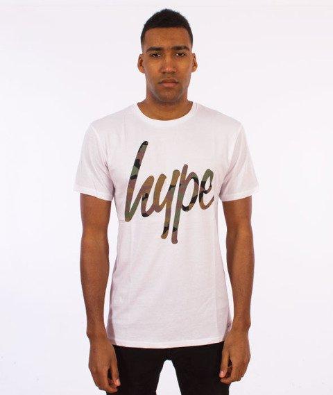 Hype-Camo Script T-Shirt Biały/Camo