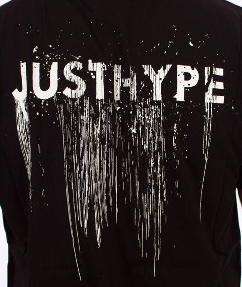 Hype-Disheleved T-Shirt Czarny