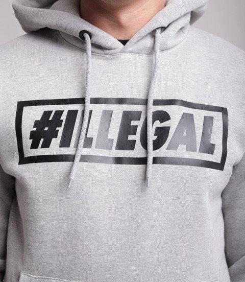 Illegal-Klasyk Bluza Z Kapturem Jasny Melanż