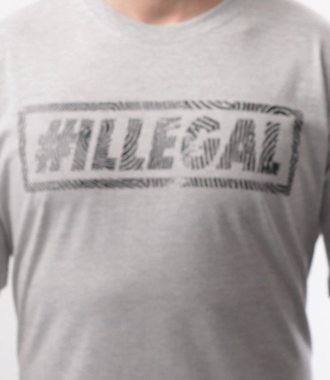 Illegal-Odcisk T-Shirt Szary