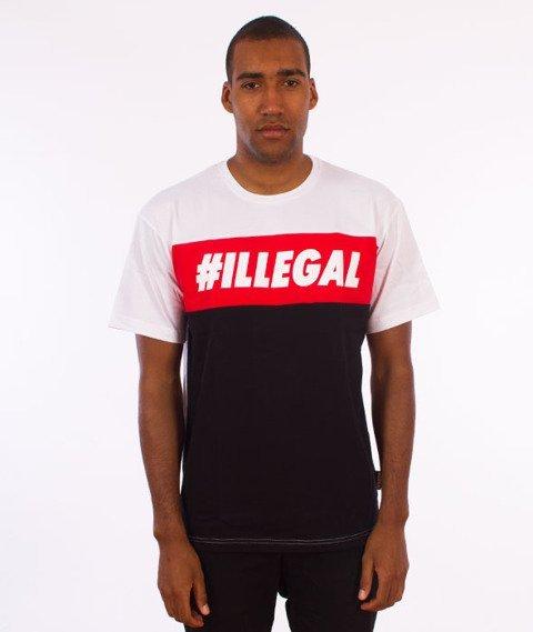 Illegal-Red T-Shirt Biały/Czerwony/Czarny