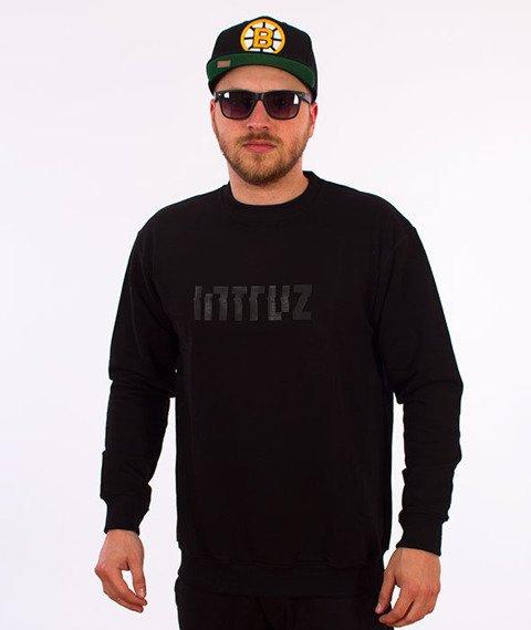 Intruz-Logo Crewneck Bluza Czarna