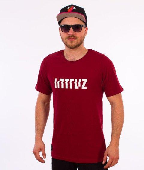 Intruz-Logo T-Shirt Bordowy