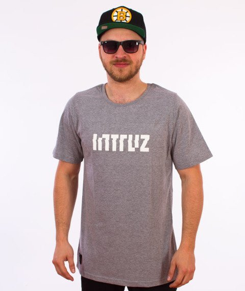 Intruz-Logo T-Shirt Szary