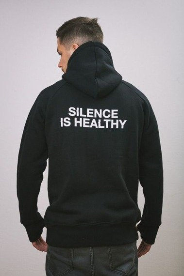 Intruz-Silence Bluza Z Kapturem Czarna