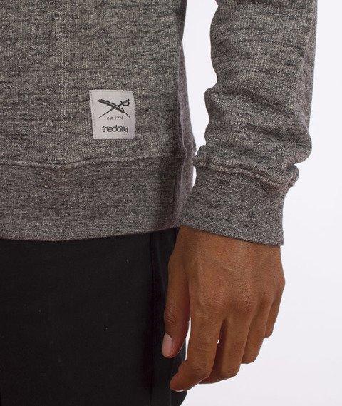 Iriedaily-Chamisso Logo Crew Bluza Black Melange