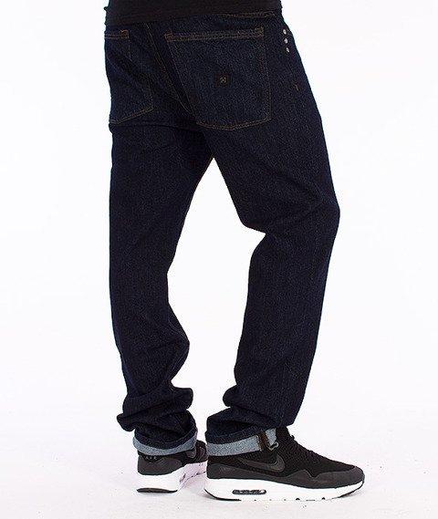 KR3W-K-Slim Spodnie Jeans Dark Blue