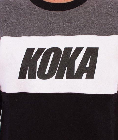 Koka-Stripes Bluza Czarna/Biała/Szara