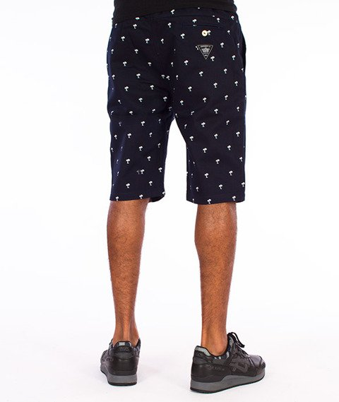 Lucky Dice-Chino Krótkie Spodnie Granatowe