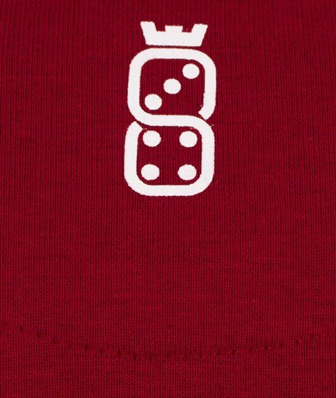 Lucky Dice-Classic Crewneck Bluza Bordo