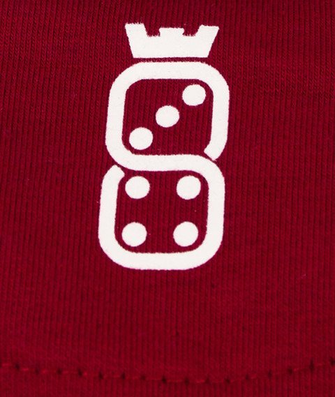 Lucky Dice-College Crewneck Bluza Bordo/Szara