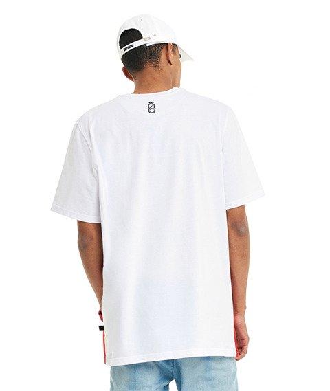 Lucky Dice-Cut Colour T-shirt Szary/Biały/Czerwony