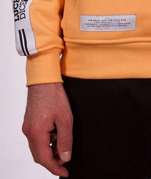 Lucky Dice-Hoodie Tape Logo Bluza Brzoskwiniowa