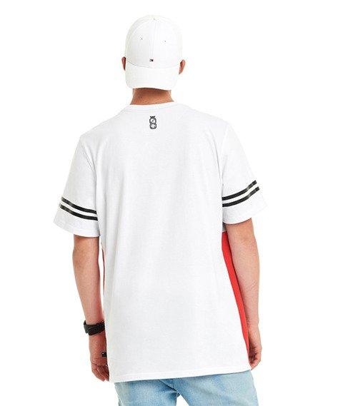 Lucky Dice-New College T-shirt Biały/Czerwony