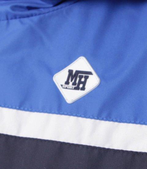 METODA -MH Small Logo Zip Kurtka Wiatrówka Niebiesko Granatowa
