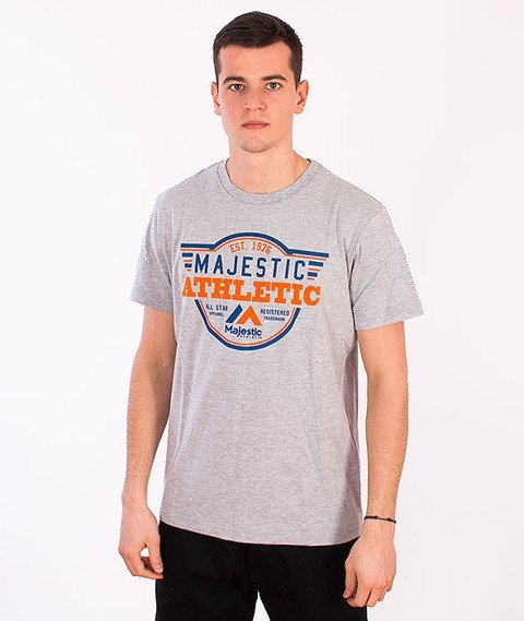 Majestic-Logo T-shirt Grey