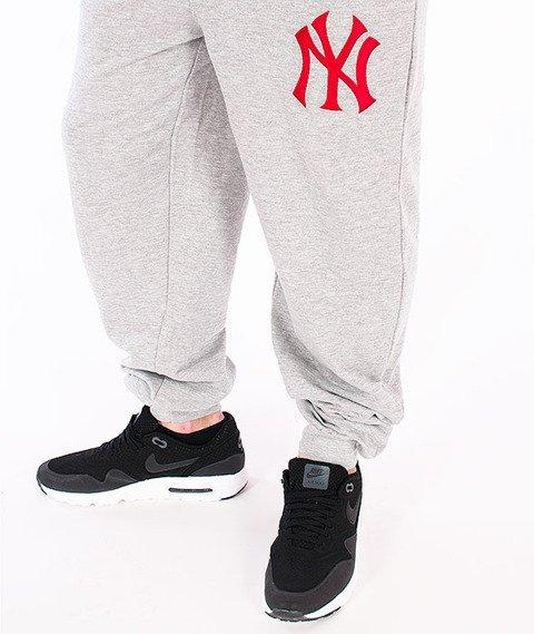 Majestic-NY Yankees Dalmore Cuffed Hem Jogger Pant Grey