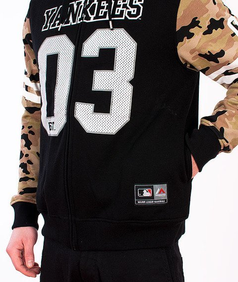 Majestic-New York Yankees Zip Hoodie Black/Camo