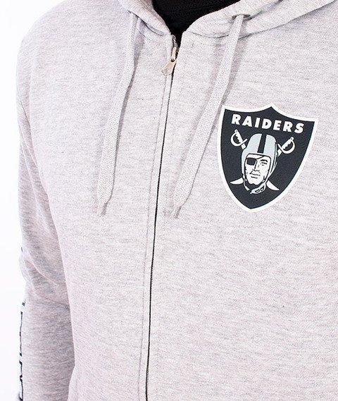 Majestic-Oakland Raiders Zip Hoodie Grey