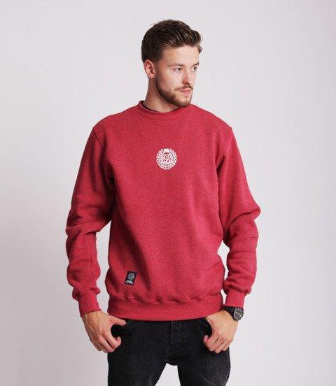 Mass BASE SMALL LOGO Bluza Melanż Bordowy