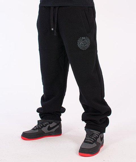 Mass-Base Regular Fit Spodnie Dresowe Czarne/Grafitowe