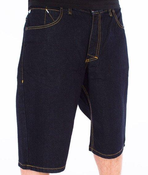 Mass-Base Spodnie Krótkie Jeans Rinse Blue