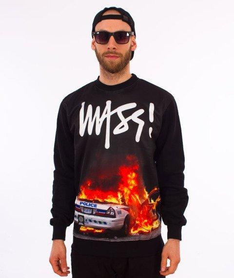 Mass-Burn Bitch Crewneck Bluza Czarna/Multikolor